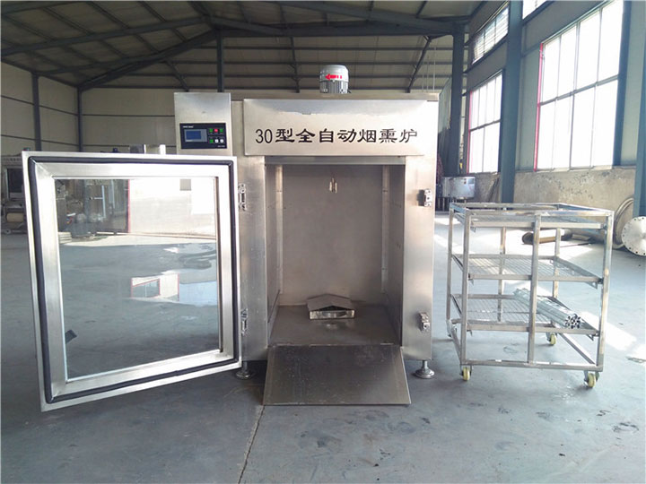 built-in meat smoking machine