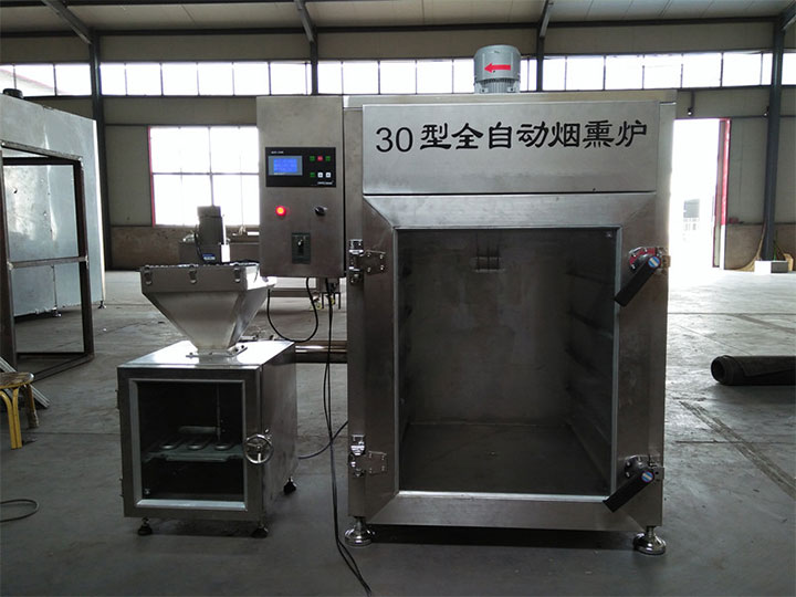 external meat smoking oven