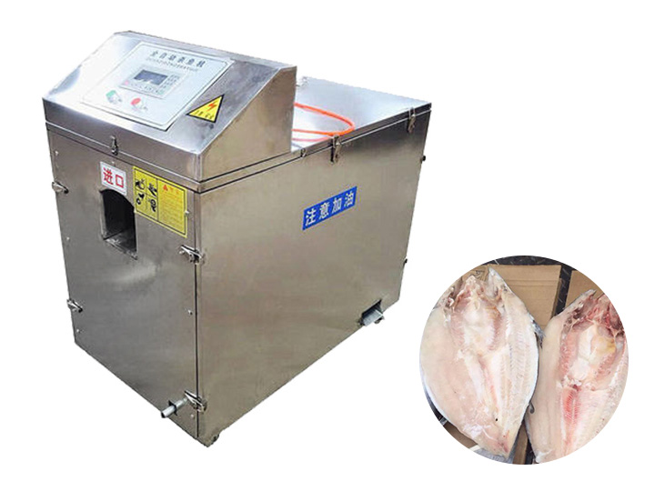 fish scaling and belly splitting machine