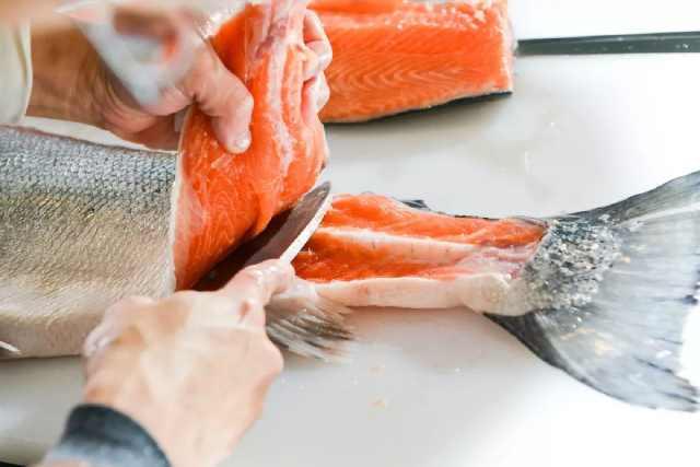 Hand-cut salmon