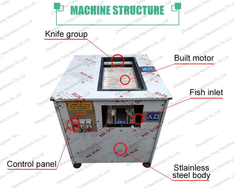 Fish fillet machine details