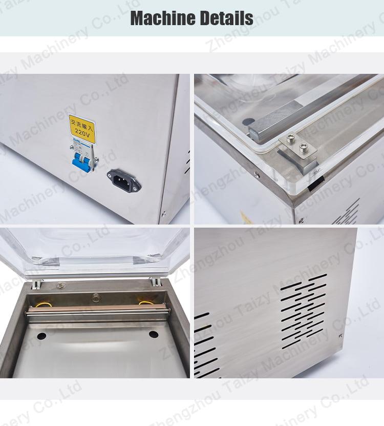 Vacuum packaging machine details